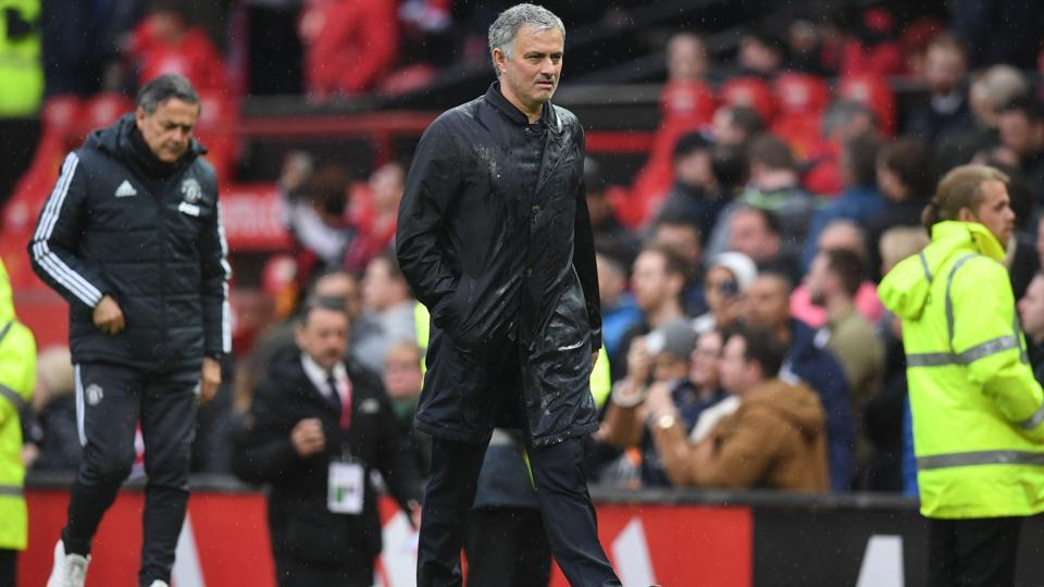 Manchester United manager Jose Mourinho now finds himself in the eye of the storm after failing to win the Premier League despite heavy expenditure.  (AFP)