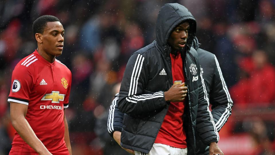 Despite having a squad with talent such as Anthony Martial (L) and Paul Pogba, they have struggled when push comes to shove.  (AFP)