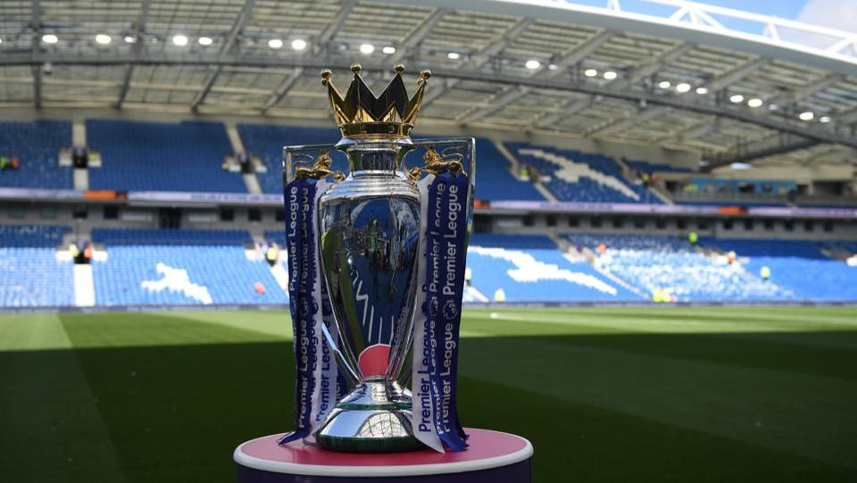 Manchester City will be awarded the Premier League trophy in the month of May.  (AFP)