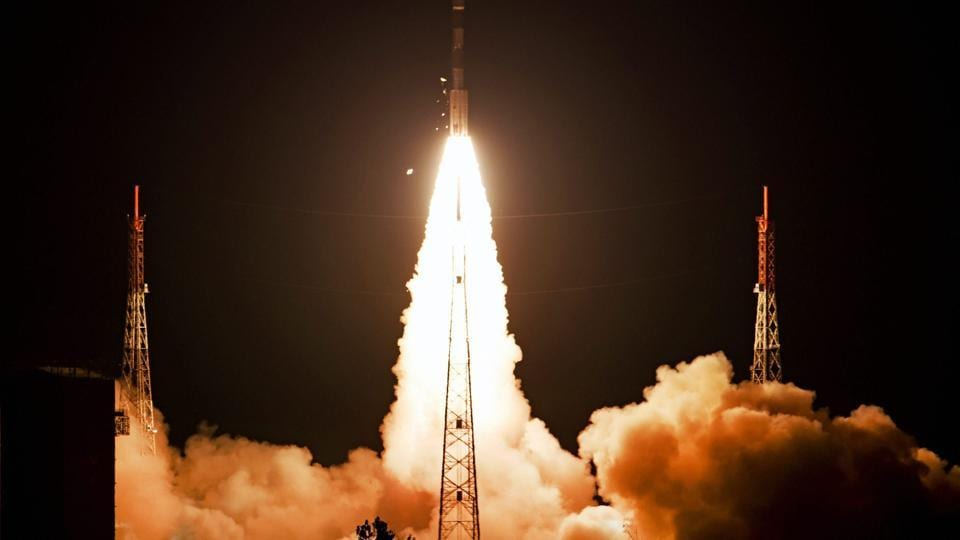 Navigation satellite IRNSS-1I, on board PSLV-C41, lifts off at the Satish Dhawan Space Centre in Sriharikota, Andhra Pradesh on April 12.