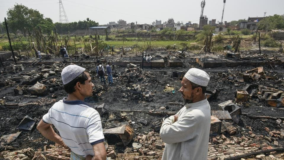 Massive Fire Guts Delhi's Only Rohingya Camp, 230 Refugees Again Homeless