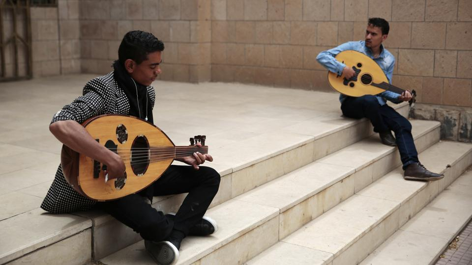 With the students he is training the dream of a national orchestra of young Yemenis, El-Deb'y hopes to revive an art form that he says has nearly vanished from Yemeni life. With the revival he hopes to pass on his expertise to create a new generation of musicians. (Hani Mohammed / AP)