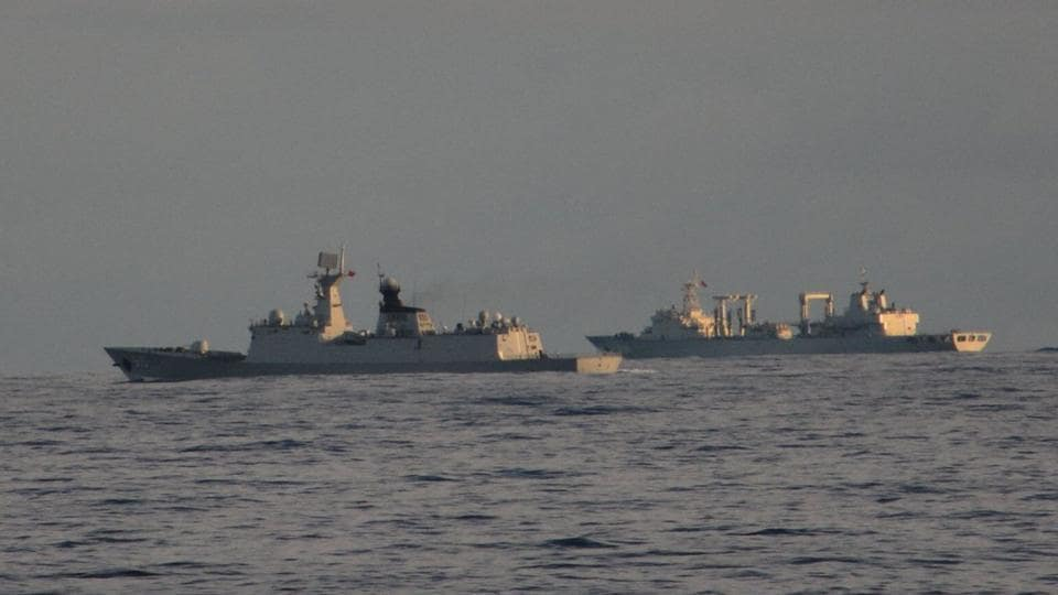 Indian Navy,Chinese Navy,India Ocean