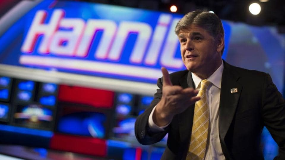 Fox News Channel anchor Sean Hannity at the Fox News Channel's studios in New York City. Hannity said on Monday he had sought confidential legal advice from Michael Cohen