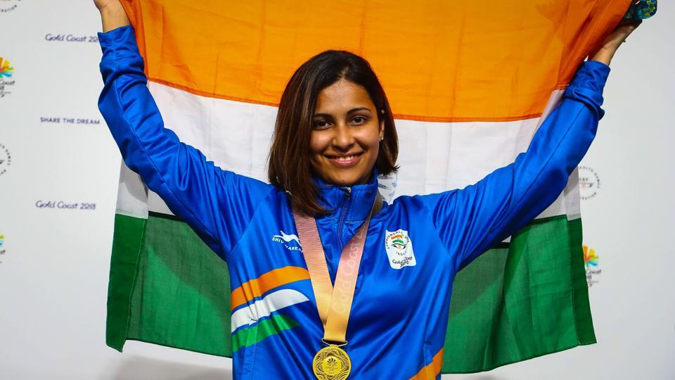 Heena Sidhu won the gold medal in the women's 25m pistol shooting during the 2018 Commonwealth Games in Gold Coast, Australia.