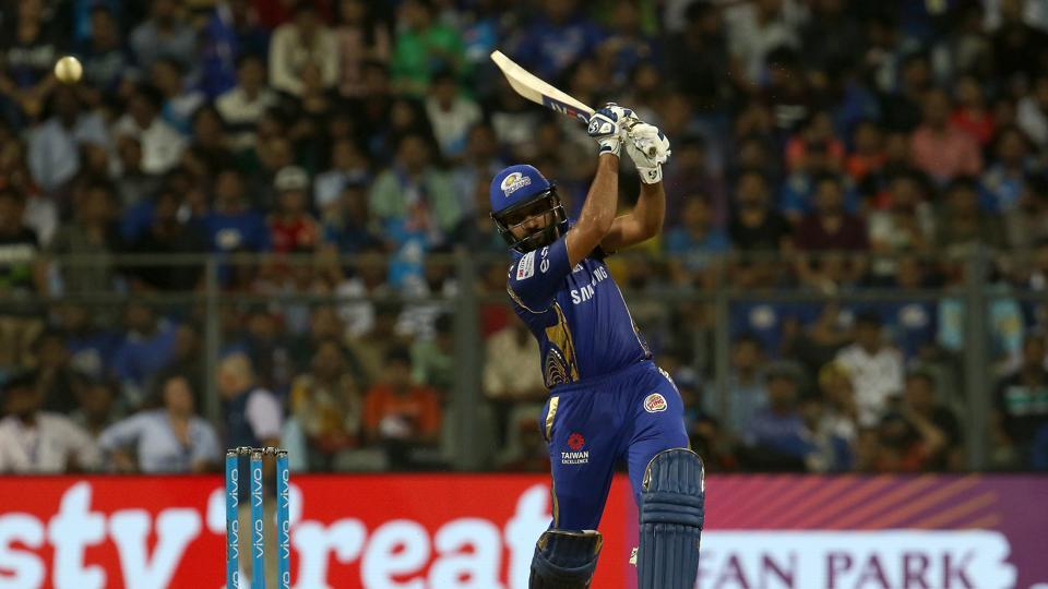 Rohit Sharma blasted a fifty off just 32 balls as Royal Challengers Bangalore wilted under the onslaught. (BCCI)