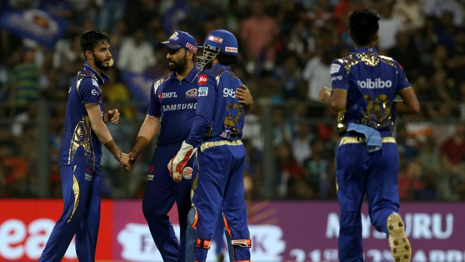Royal Challengers Bangalore lost wickets at regular intervals as Mumbai Indians secured their first win in the 2018 IPL with a 46-run win. (BCCI)
