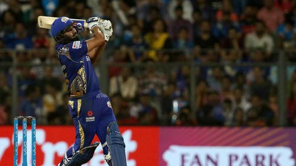 Rohit Sharma tore the Royal Challengers Bangalore bowling apart in the death overs as Mumbai Indians neared 200. (BCCI)