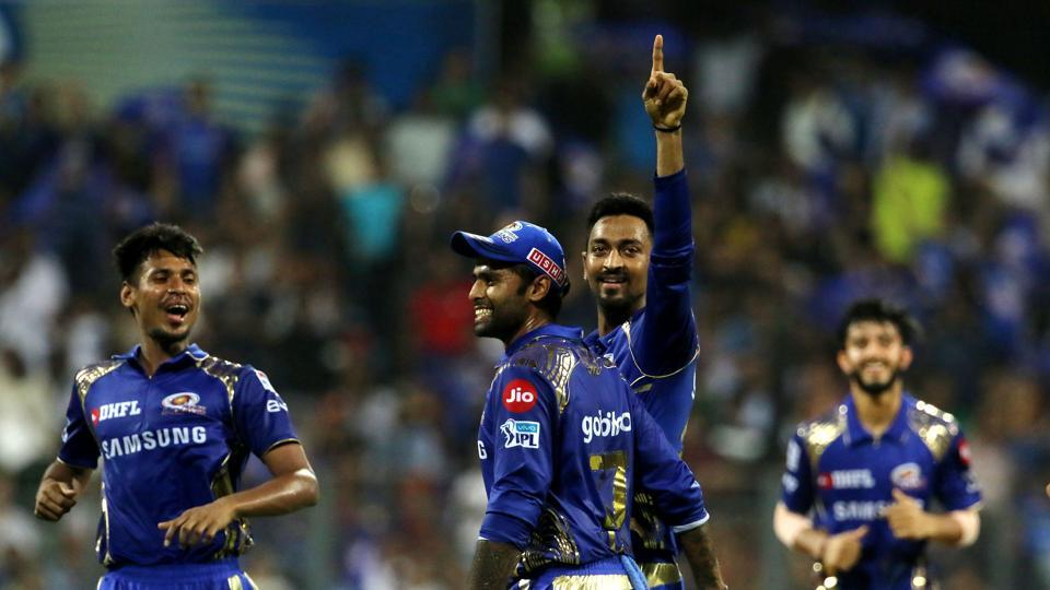 Krunal Pandya picked up three wickets to put Mumbai Indians on course for a big win. (BCCI)