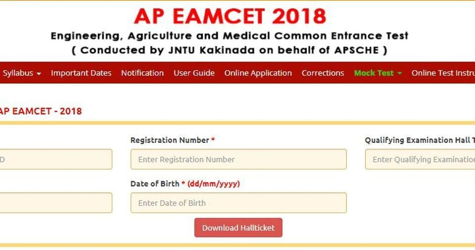 AP EAMCET 2018 hall ticket released, here's direct link to download