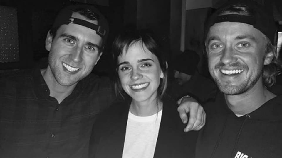 Emma Watson, Tom Felton and Matthew Lewis appeared in eight Harry Potter films together.