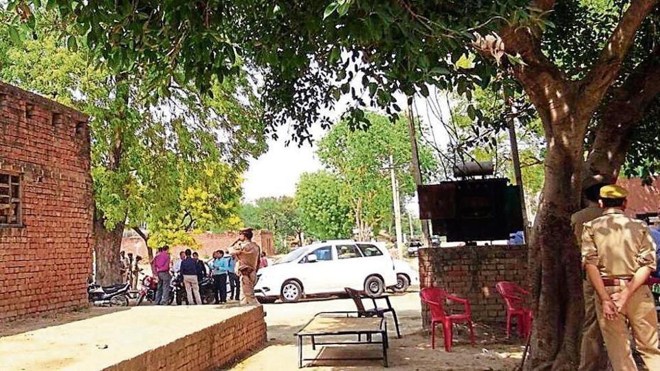 CBI officials in Makhi village on Tuesday.