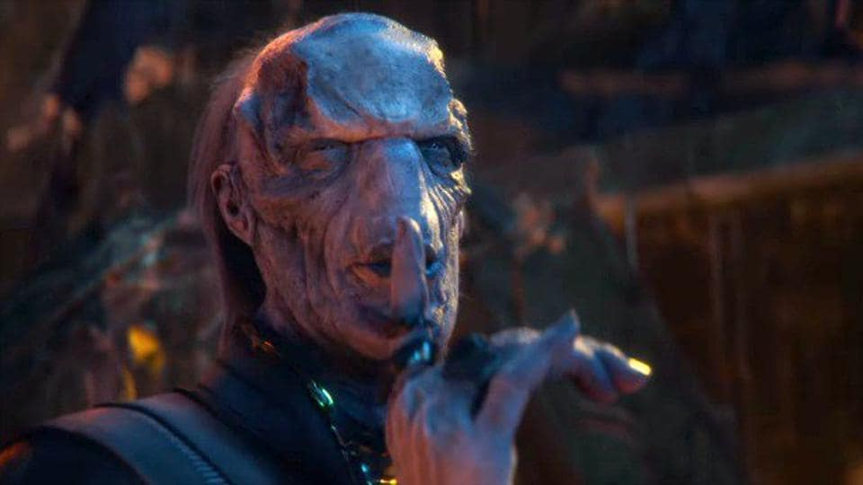 Ebony Maw in a still from Avengers: Infinity War.