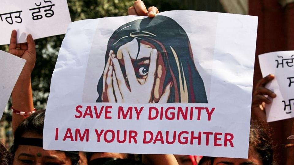 People stage protest in Amritsar against the rape of an eight-year-old girl in Kathua, and a teenager in Unnao.