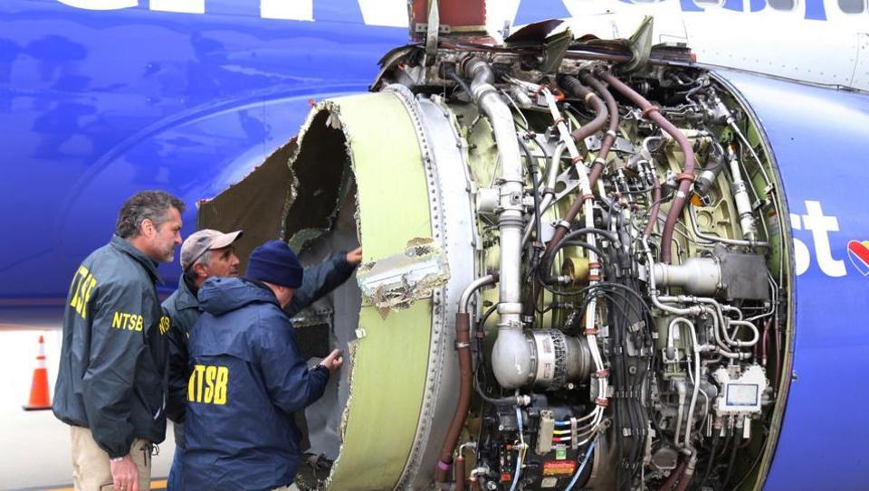 Southwest Airlines,Jet engine failure,US