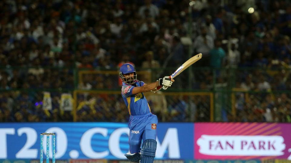 Ajinkya Rahane and D'Arcy Short got RR off to a good start, stitching a fifty plus stand.  (BCCI )