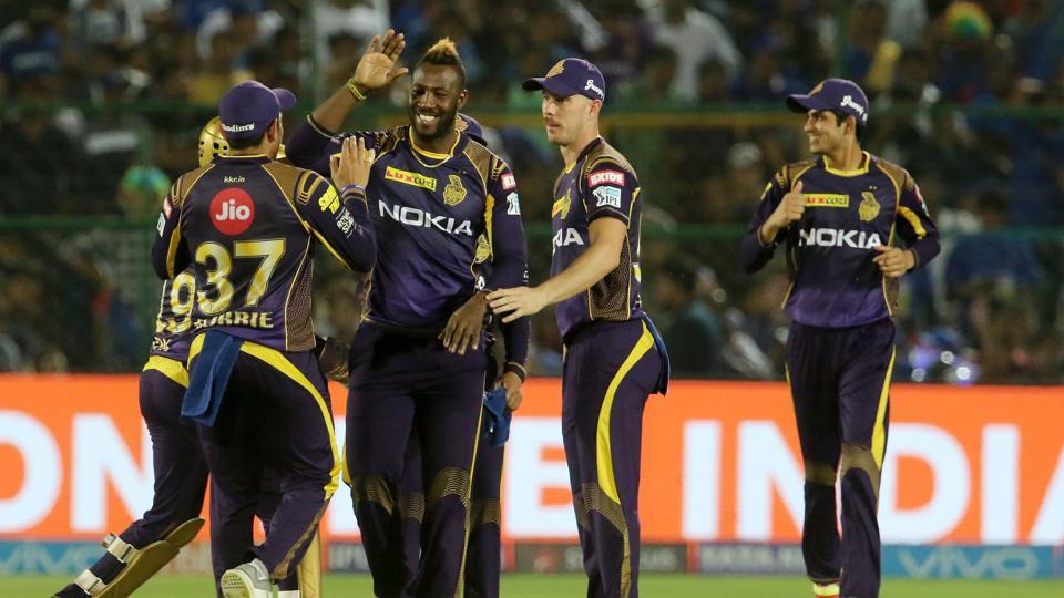 KKR struck at regular intervals, hurting RR's chances of posting a big total.  (BCCI )