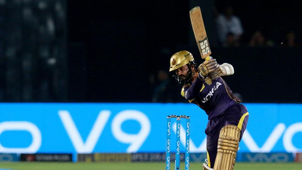 Karthik scored 42 off just 23 as KKR sealed the deal with seven balls remaining.  (BCCI )