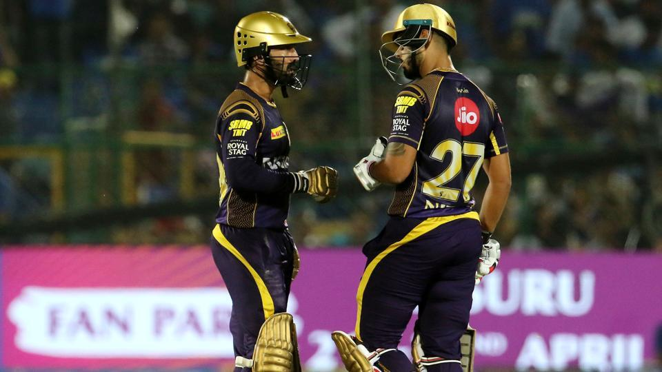 Dinesh Karthik and Robin Uthappa's solid knocks helped Rajasthan Royals beat Kolkata Knight Riders by seven wickets. Get full cricket score of Rajasthan Royals vs Kolkata Knight Riders, Sawai Mansingh stadium, Jaipur here.