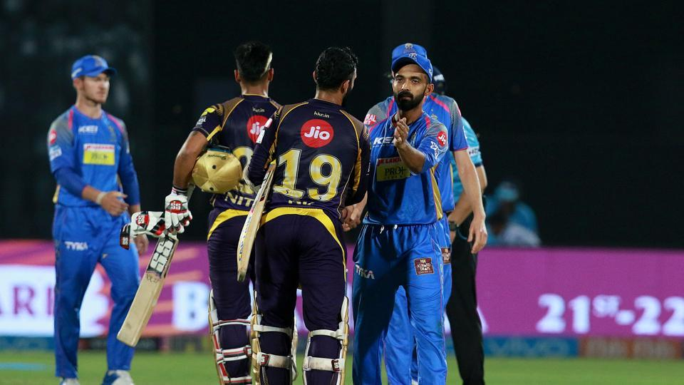 Kolkata Knight Riders (KKR) defeated Rajasthan Royals (RR) by seven wickets to register their third win in IPL 2018.  (BCCI )