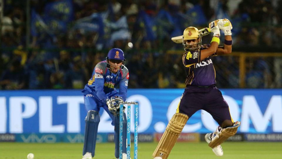 Robin Uthappa in action during match fifteen of the 2018 Indian Premier League 2018 (IPL 2018) between Rajasthan Royals and Kolkata Knight Riders at the The Sawai Mansingh Stadium in Jaipur. Follow highlights of Rajasthan Royals (RR) vs (KKR) Kolkata Knight Riders, Indian Premier League (IPL) 2018 match at the Sawai Mansingh Stadium, Jaipur here