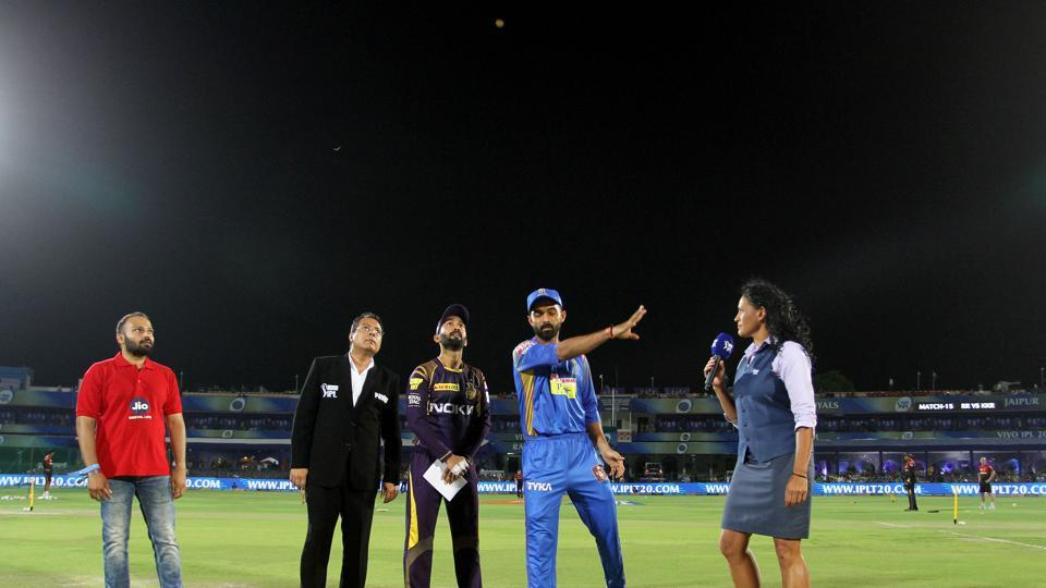 KKR captain Dinesh Karthik won the toss and opted to field.  (BCCI )