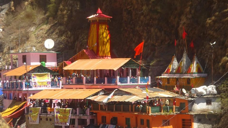 Yamunotri shrine on the day of opening of portals on Wednesday.