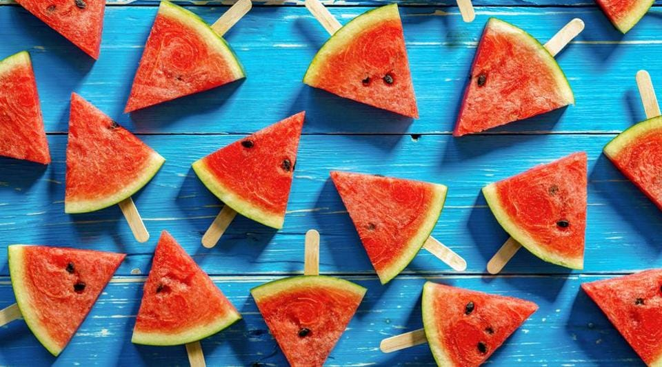 Watermelons are rich in Vitamin A, lycopene, iron and calcium.