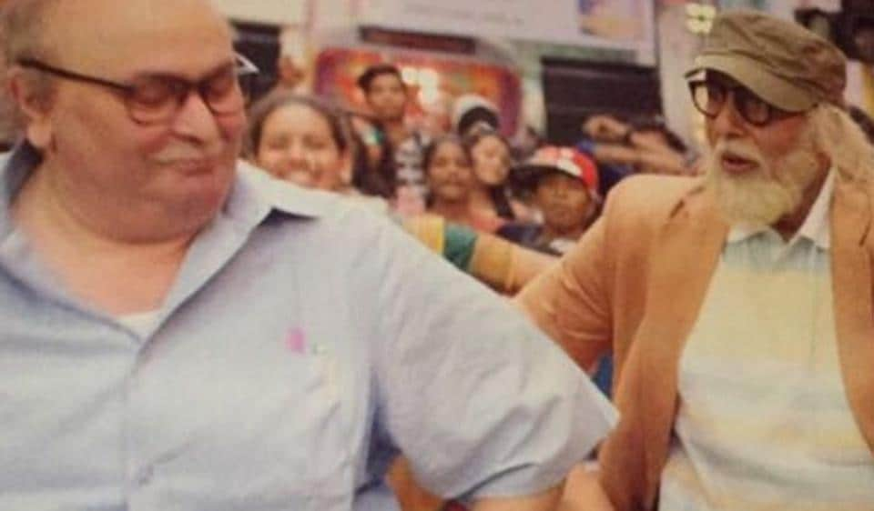 Amitabh Bachchan and Rishi Kapoor in a still from the new song from 102 Not Out, Badumbaa.