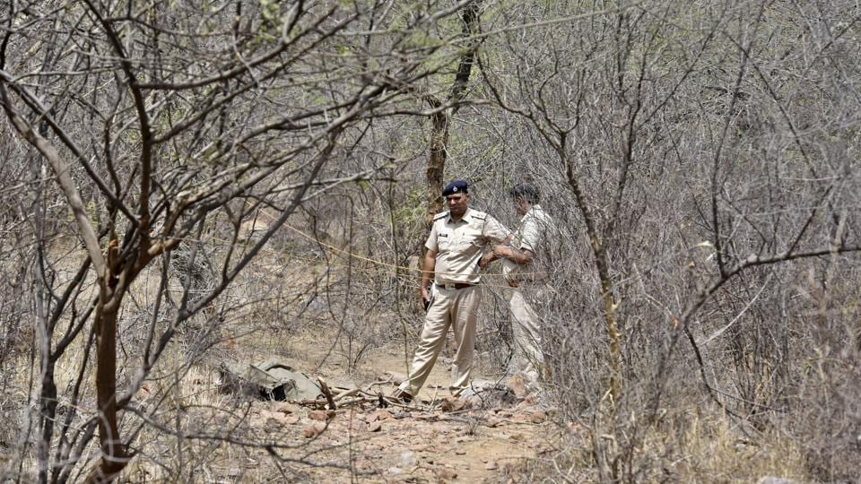 A combing operation was carried out by 250 police personnel on Thursday near the place where the bodies were found.