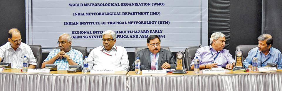 Experts at the 12th meeting of South Asian Climate Outlook Forum held at IITM in Pune on Thursday.