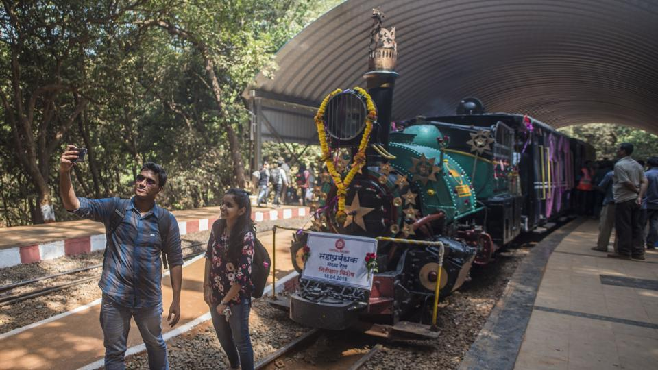 The central railway also had an inaugural run of the steam loco on Wednesday.