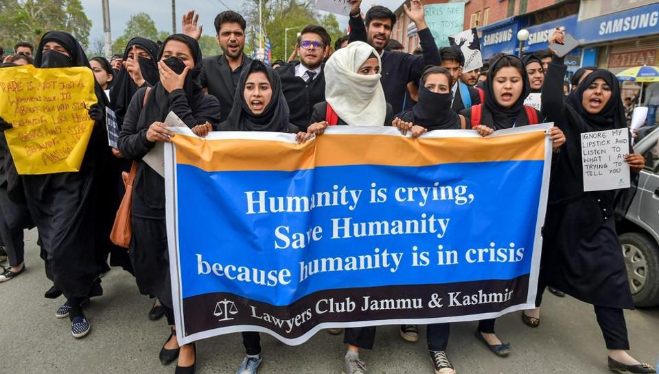 Kathua Rape protests,Jammu and Kashmir,Kathua Rape and murder