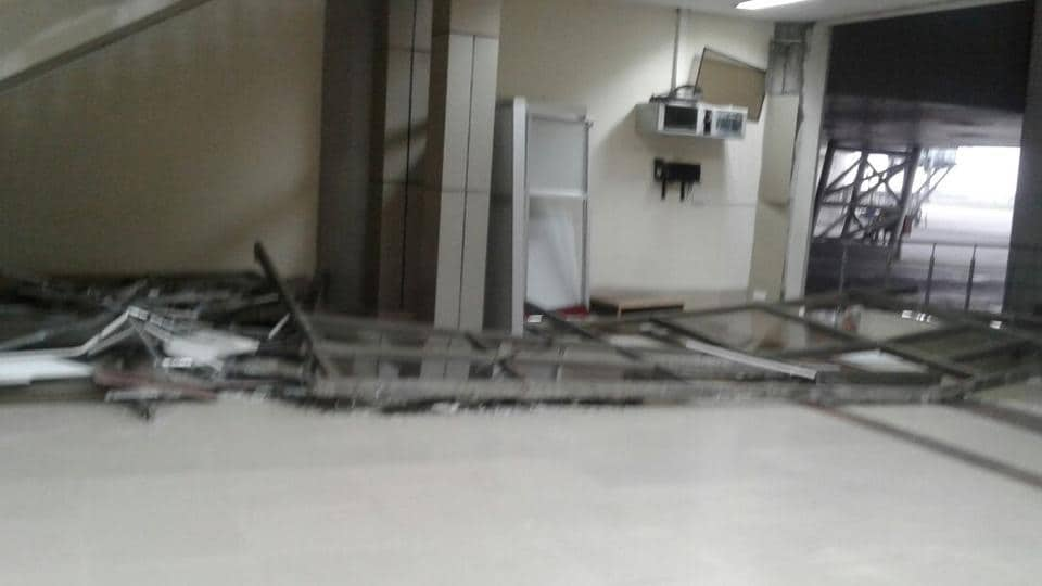 High-velocity winds,Amritsar airport,airport building damaged