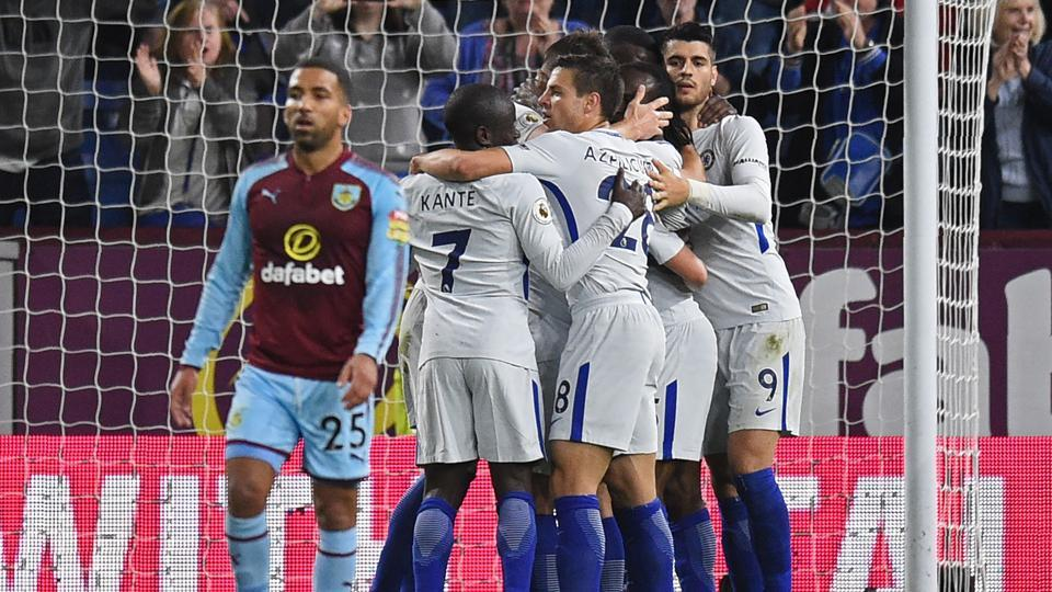 Cheslea manager Antonio Conte made six changes to his side  to face Burnley in Premier League.