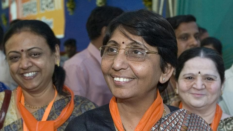 The Gujarat high court on Friday acquitted former BJP minister Maya Kodnani and upheld the conviction of Bajrang Dal leader Babu Bajrangi in the 2002 Naroda Patiya riots case, in which 97 people were killed. On February 28 that year, 97 people from the Muslim community -- mostly migrants from Karnataka and Maharashtra -- were slaughtered by a mob of Vishwa Hindu Parishad and Bajrang Dal supporters. The locality with nearly 800 houses was set on fire. (Sam Panthaky / AFP File )