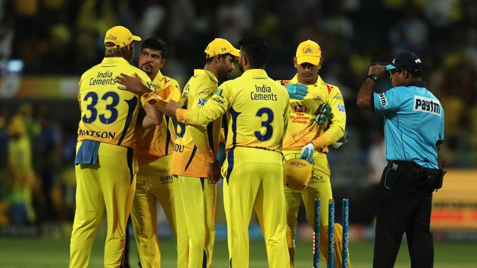 Karn Sharma got the wickets of Jaydev Unadkat and Ben Laughlin off successive deliveries as CSK secured their third win of the tournament.  (BCCI )