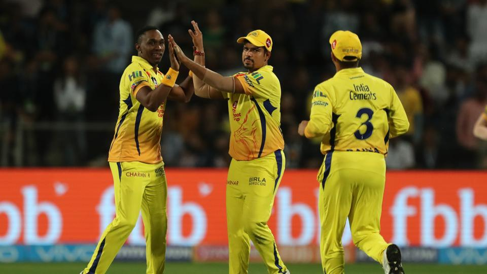 Dwayne Bravo joined the party, getting the wickets of Jos Buttler and Rahul Tripathi.  (BCCI )