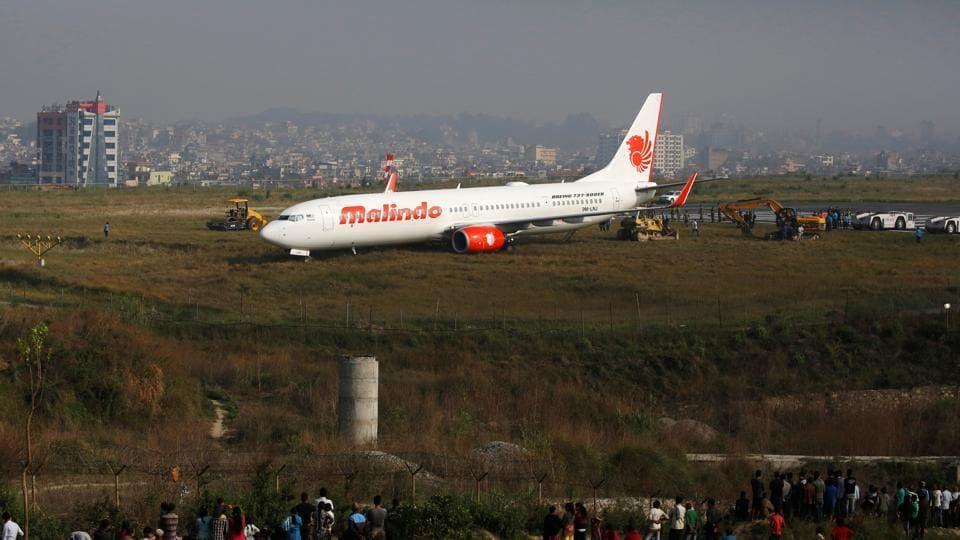 Nepal airport,Nepal aviation,Plane skids off runway