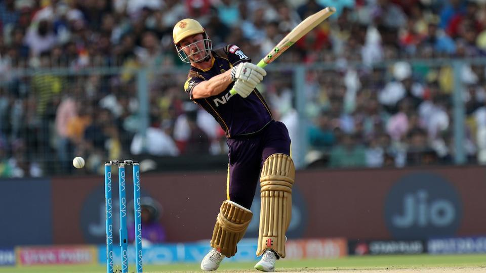 Chris Lynn was the top scorer for Kolkata Knight Riders as they reached 191/7. (BCCI)