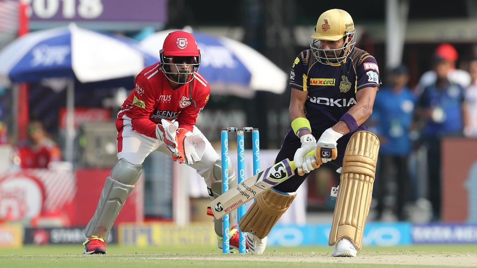 Robin Uthappa in action for Kolkata Knight Riders against Kings XI Punjab. (BCCI)