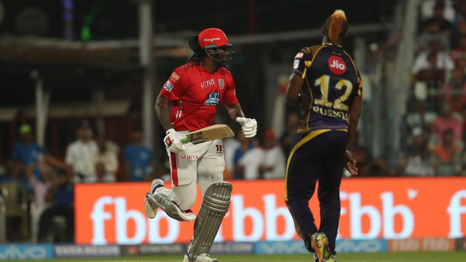 Get full cricket score of the IPL 2018 match between Kolkata Knight Riders (KKR) and Kings XI Punjab  (KXIP) here. KXIP registered a thumping 9-wicket win vs KKR on Saturday thanks in no small part to Chris Gayle and KLRahul hitting half-centuries.
