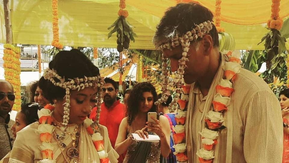 Ankita Konwar and Milind Soman took their wedding vows in presence of their friends and family.