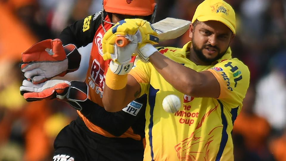 Suresh Raina in action for Chennai Super Kings in their Indian Premier League (IPL) 2018 match against Sunrisers Hyderabad.