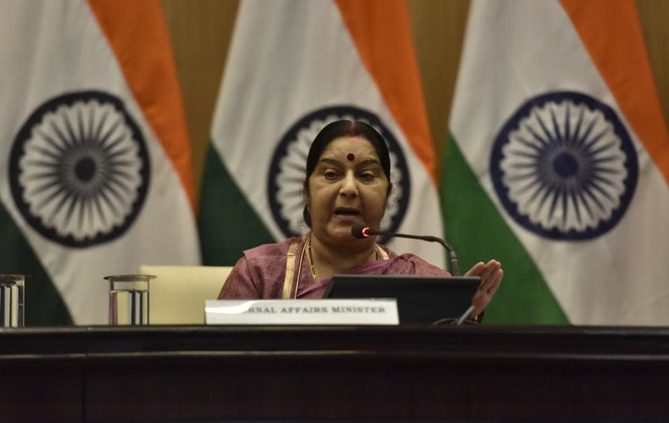 Minister of external affairs Sushma Swaraj is in Beijing to attend the Shanghai Cooperation Organisation's (SCO) foreign ministers' meet.