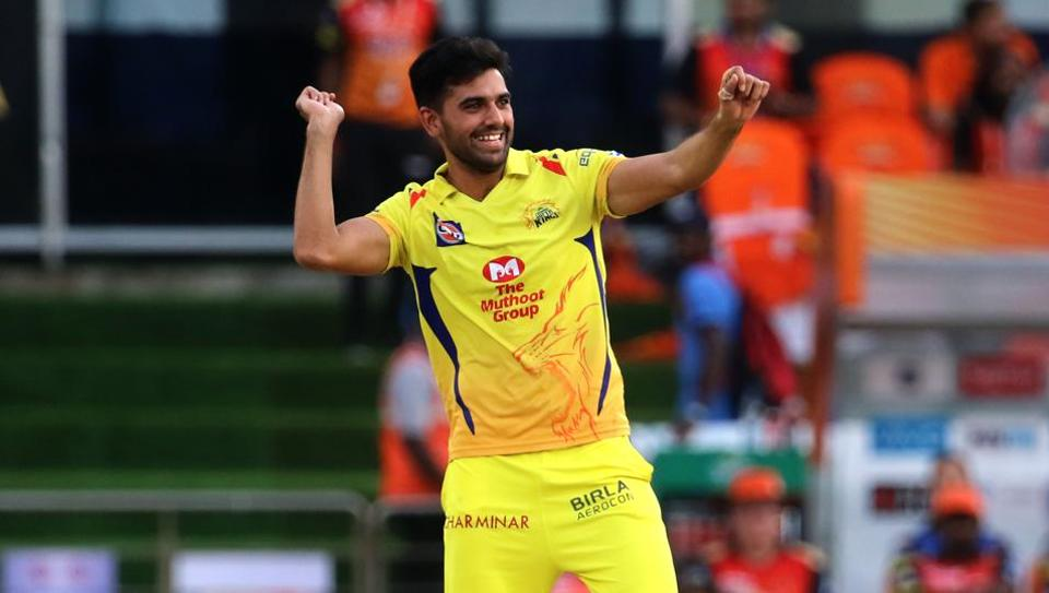 Deepak Chahar bowled an economic spell to lead the Chennai bowling attack. (AFP)