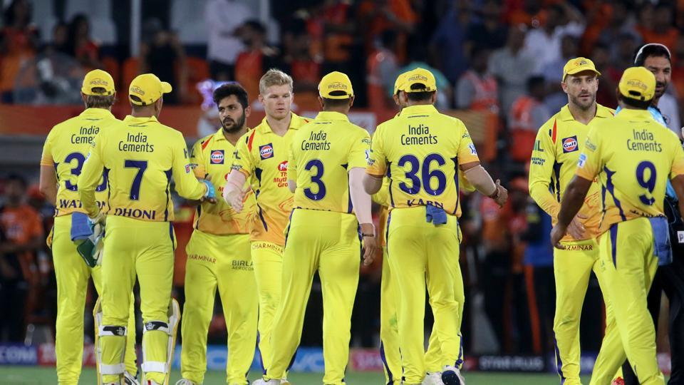 Chennai Super Kings (CSK) defeated Sunrisers Hyderabad (SRH) by four runs in an IPL 2018 match at the Rajiv Gandhi International Stadium, Hyderabad on Sunday.  (BCCI )