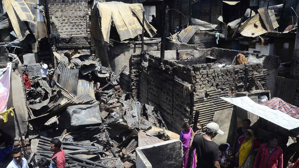 Pune,fire incident,Ambedkarnagar slum