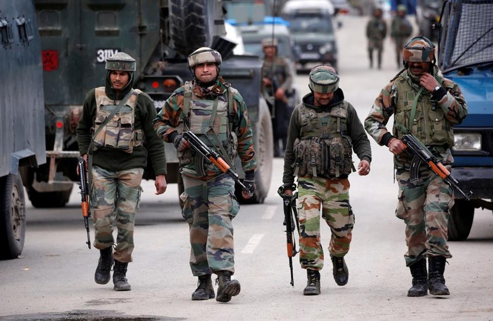 An Army official said Indian troops were retaliating strongly.