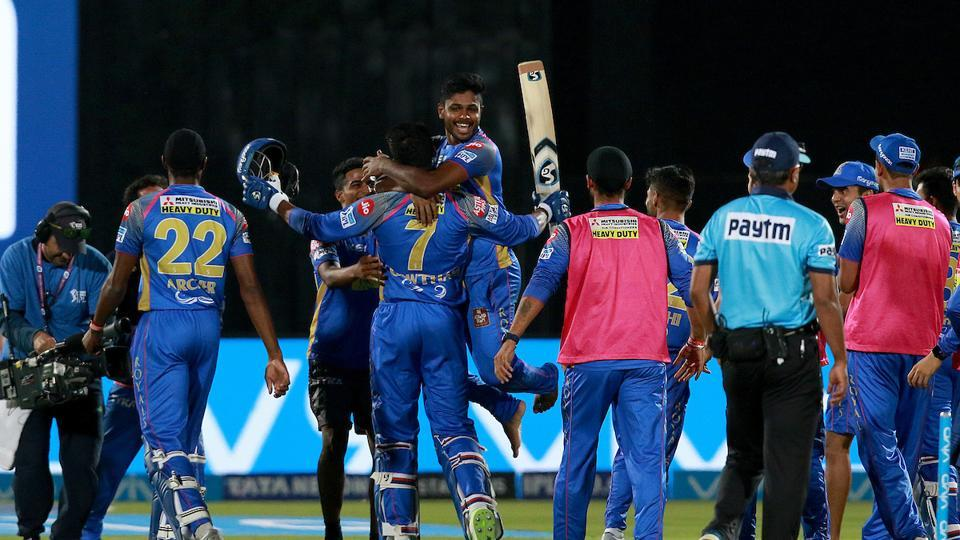 Rajasthan Royals (RR) edged out Mumbai Indians (MI) by three wickets in a thrilling IPL 2018 match in Jaipur on Sunday. (BCCI)